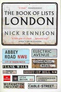 Book of Lists London by Nick Rennison